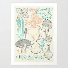 I love vegetables! Art Print