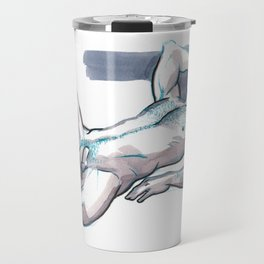 JORDAN, Nude Male by Frank-Joseph Travel Mug