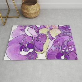 Orchid Collage Rug