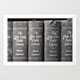 Reference Department, New York Public Library Art Print