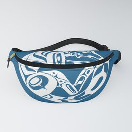 Formline Wolf (canine) circular design Fanny Pack