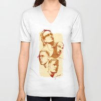 u2 V-neck T-shirts featuring U2 - Série Ouro by Renato Cunha