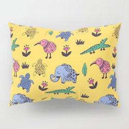 Cute Wild Animals Pattern Pillow Sham