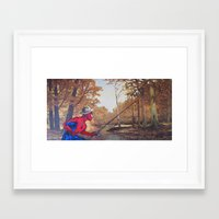 thegnarledbranch Framed Art Prints featuring Gone Fishin' by TheGnarledBranch