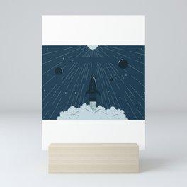 Launching To Space Mini Art Print