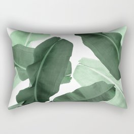 Green Banana Leaf Rectangular Pillow