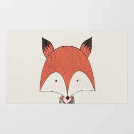 Cute Woodland Animal Fox Rug