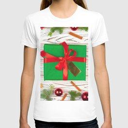Wallpaper Christmas Gifts Bowknot New year present T-shirt