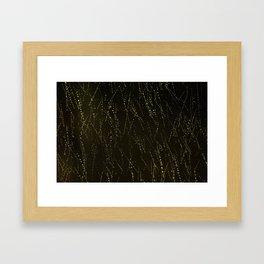 Rain on a Window Framed Art Print
