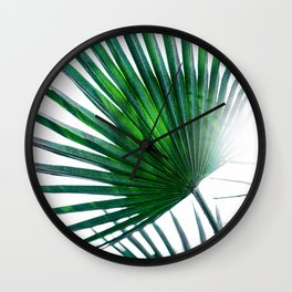 Palm Leaves 19 Wall Clock