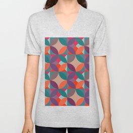 Warm vintage colours pattern Unisex V-Neck