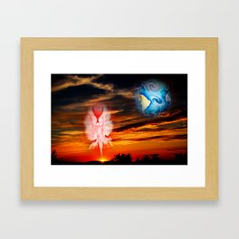 Mystical world,  heavenly apparition Framed Art Print