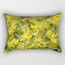 Yellow Spray Rectangular Pillow