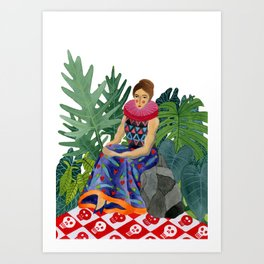 Queen of the greenhouse Art Print