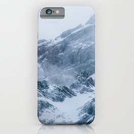 Mountains snow and fog iPhone Case