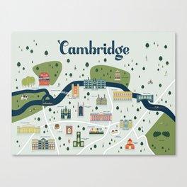 Cambridge Map Canvas Print