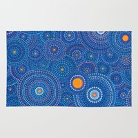 starry night Area & Throw Rugs featuring Starry Starry Night by Elspeth McLean
