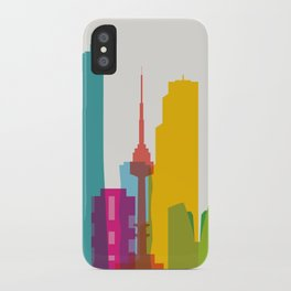 Shapes of Seoul accurate to scale iPhone Case