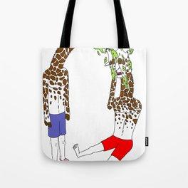 giraffe boyz Tote Bag