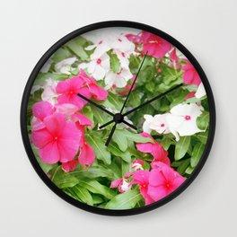Pink & White Wall Clock