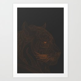 All lines lead to the...Tiger Art Print
