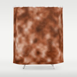 Mottled Copper Rose Foil Shower Curtain