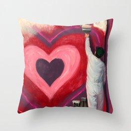 Valentine's Day Illustration Throw Pillow