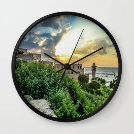 Sunset Old Jaffa Wall Clock