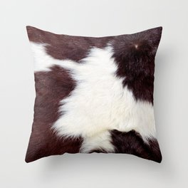 Cowhide Fur Throw Pillow