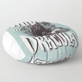 Brides of Dracula, vintage horror movie poster Floor Pillow