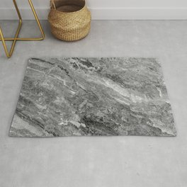 Grayscale Marble Rug