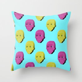 3D Skull Lyf Throw Pillow