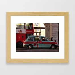 Tiffany Taxi Framed Art Print