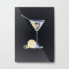 Martini Metal Print