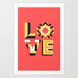 LOVE - Coral Art Print