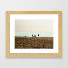 Pup Beach Framed Art Print