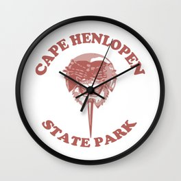 Cape Henlopen - Delaware. Wall Clock