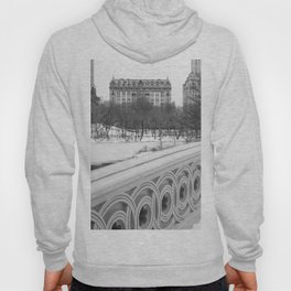 On Bow Bridge, B&W Photography Hoody