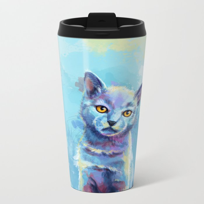 Kingdom of Innocence - cat painting Metal Travel Mug