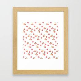 Grapefruit Pattern Framed Art Print