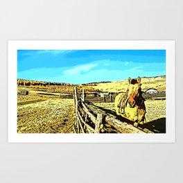 Mongolia Horse Treks (at Mountain Rubia) Art Print