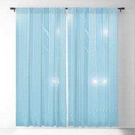 Light Blue Felines Forest Blackout Curtain