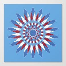 Distressed Kaleidoscope Canvas Print