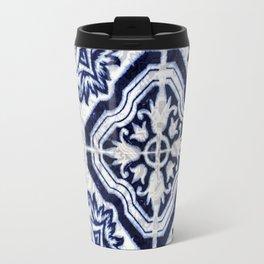 blue tile pattern VII - Azulejos, Portuguese tiles Travel Mug