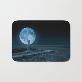 Celtic Cross and Moon Bath Mat