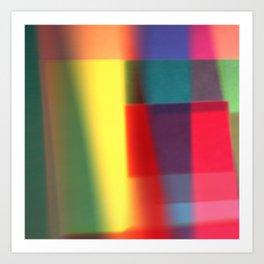 Colored blured pattern Art Print