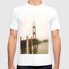 GG Bridge San Francisco MEDIUM White Mens Fitted Tee