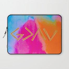 God Is Greater - Tie Dye Laptop Sleeve