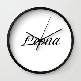 Name Leona Wall Clock
