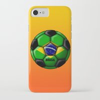 brasil iPhone & iPod Cases featuring Brasil Ball by kuuma